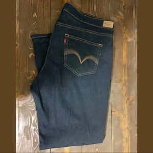 Levi's 512  straight dark wash jeans